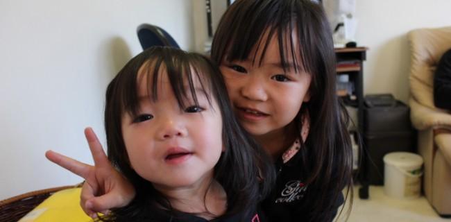 可愛い姉妹が遊びにきました(^o^)