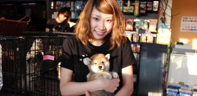 ミス富山と柴犬の男の子とツーショット♪